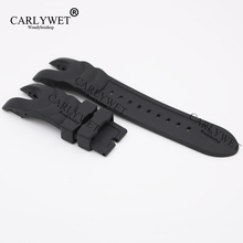 CARLYWET 26mm New Style Black Strap Waterproof Rubber Replacement Watch Band Belt Special Popular For Reserve Collection Style(China)