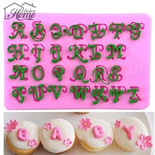 Alphabets Letters Embossing  Silicone Mold Fondant Mould Christmas Decor Bakeware Cooking Tools Sugar Chocolate Cookie Decor DIY