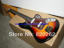 New Arrival Sunburst Jaguar Electric Guitar High Quality From China Free Shipping(China)