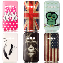 Owl UK Printing Soft Silicone TPU  Phone Case For Coque Samsung J1 2016 J120F Case Cover For Samsung galaxy J1 (6) 2016 SM-j120F