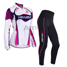 Pro Women Cycling Jersey set Long Sleeve Breathable Bicycle Cycling Clothing 3D Gel Padded MTB Bike Wear Suit  ropa ciclismo