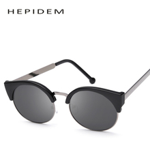 HEPIDEM Classic Fashion Hot Sell Women Sunglasses Women Band Designer Cat Eye Sunglass Female Round Lens Sun Glasses Shades 8001