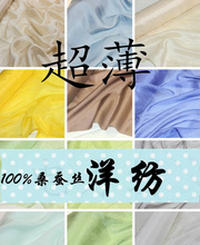 wholesale soft THIN Silk spinning silk fabric material for dress scarves sell by 3meter(China)