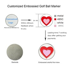 100pcs Customized Embossied Golf Ball Markers fit all Magnetic Golf Hat Clips or Divot Tools