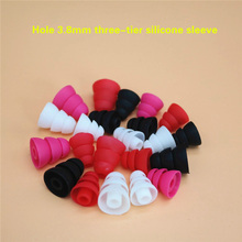 6pcs/3pairs Three Layer Silicone In-Ear Earphone Covers Cap Replacement Earbud Bud Tips Earbuds eartips Earplug Ear pads cushion