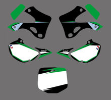0017 New Style TEAM GRAPHICS & BACKGROUNDS DECALS STICKERS Kits for Kawasaki KX125 KX250 1999 2000 2001 2002 KX 125 250