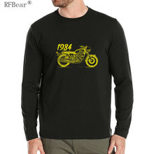 RFBEAR Brand cotton fashion t shirt New Autumn and winter man T-shirt spring  long sleeved casual o-neck t shirt Motorcycle 2017
