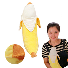 Hot Selling 1 Pcs 50cm Plush Toy Cute Peeling Banana Doll Ideas for Kids Playing Props Pillow Stuffed & Plush
