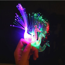 1 PCS Cartoon Funny Led Peacock Finger Lamp Toys Children Baby Kids  Light-up Toys Novelty Toys