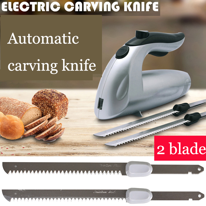 180W Electric Automatic Cheese Bread Slicer Cutting Machine 2 Stainless Steel Blade Slicer Tool Home Kitchen Appliance Cutter<br>
