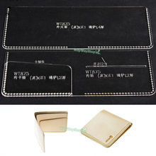 Wallet 875 Templates Card Case Acrylic Leather patterns Craft Patterns DIY Hobby(China)
