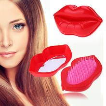 Fashion Comb Hair Brush Creative Lips Styling Tools Massage Comb Tangle Comb Shower Hair Brush Detangler Salon Styling