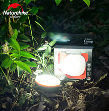 Naturehike Outdoor Portable Camping Lantern Waterproof LED Light USB Rechargeable Tent Lamps Home Emergency Lights