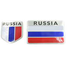 3D High Quality Aluminum Russia Flag Car Sticker Accessories Car styling National Badge Auto Decorative Emblem