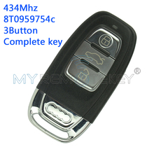 A4 A6 Q5 smart remote car key 8T0959754C 434Mhz 3button for Audi include key insert remtekey(China)