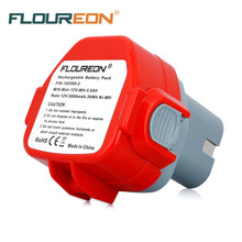 FLOUREON For Makita Mak 12V 3000mAh Ni-MH Rechargeable Battery Pack Power Tools Battery Replacement Cordless Drill 1050D 4331D