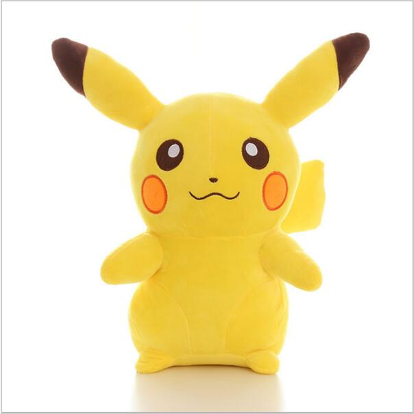 1pcs 35cm Pikachu Plush Toys Children Gift Cute Soft Toy Cartoon Pocket Monster Animal Kawaii Baby Kids Toy Stuffed Plush Doll