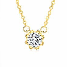 INALIS Brand Unique Crown Cubic Zirconia Necklaces &Pendants Gold Color Chain Fashion Jewelry For Women