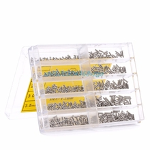 Universal Screws Nuts Screwdriver Repair Kits Tool Box Helper 700pcs/set Micro Glasses Sunglass Watch Repair 1.6-6.0mm #H028#
