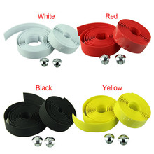 Cycling Handle Belt Bike Bicycle Cork Handlebar Tape Wrap +2 Bar Plug Sports Outdoors camping Accessories(China)