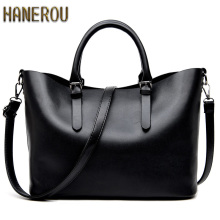 Bolso Mujer Negro 2016 Fashion Hobos Women Bag Ladies Brand Leather Handbags Spring Casual Tote Bag Big Shoulder Bags For Woman(China)