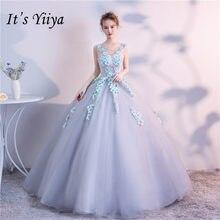 It s YiiYa Gray Floor-length Wedding Dresses Elegant Sleeveless Colored Brides  Gowns Lace Up Vestidos De Novia Casamento HX021 4bb0c2c65d79