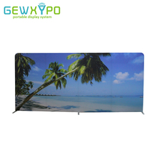 500cm Width Size Straight Easy Fabric Display Banner Stand With One Side Printing,Portable Exhibition Booth Advertising Backwall