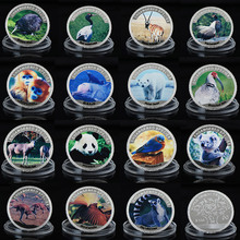 WR New Arrival Endangered Cute Animal Silver Coin 999.9 Silver Plated Metal Coins Challenge Art Crafts Set Worth Collection(China)