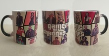 Game of thrones mugs Grand Theft Auto GTA 5 cup heat changing color Baratheon,Greyjoy,Martell,Stark,Tully,Tyrell coffee mug Cups