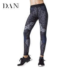 DANENJOY 2017 Women Yoga Pants Jogging Sexy Leopard Printed Sport Leggings Gym Running Tights Exercise Female Fitness Sportwear