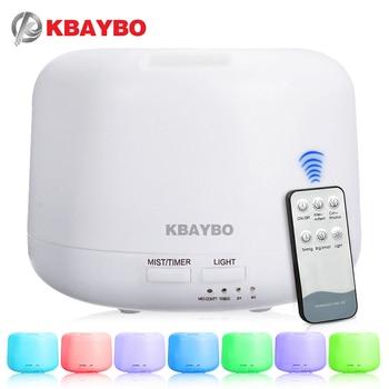 Control remoto 300 ML Aroma Humidificador de Aire Por Ultrasonidos Con 7 Luces de Color Eléctrico Aromaterapia Aceite Esencial Difusor de Aroma