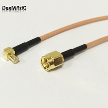 RF SMA Male Switch MCX Male Right Angle RF Pigtail Cable RG316 Wholesale Fast Ship 15CM