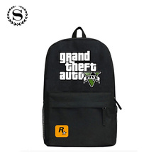 2017 GTA5 / GTA PC Games Mochilas School Kids Backpack For Teenagers Bags Anime Bag Mochila Surrounding Infantil Japan Animation(China)