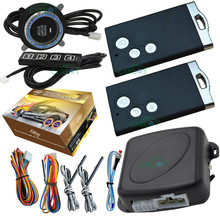 auto car alarm system with smart card remotes engine start stop button passwords keyless entry