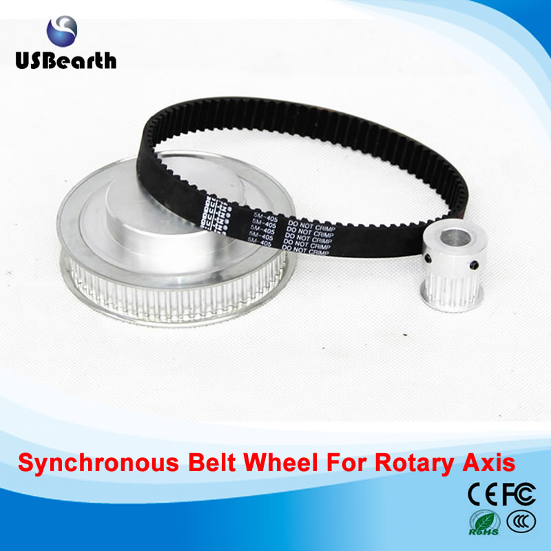CNC Router parts synchronous belt wheel for Rotary axis<br>