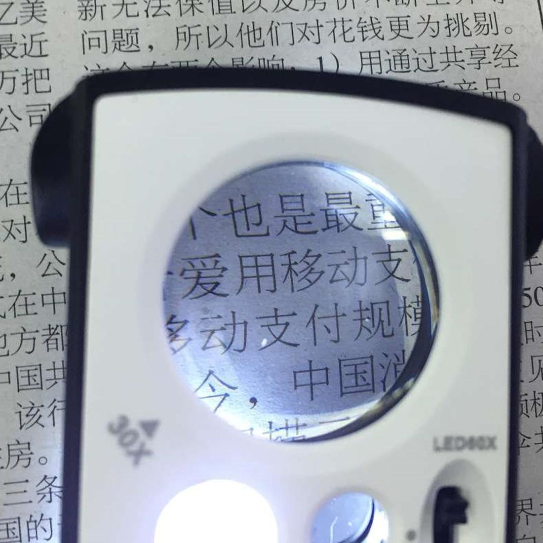 Lupa Iluminada de Precisi/ón con 30 Aumentos y 60 Aumentos Electr/ónica Rey/® Doble Lupa LED 30x y 60x