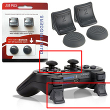 Top Selling 4 in 1 New Dual Triggers + Silicone Thumbstick Grip Cap Cover For Playstaion 3 For PS3 Controller