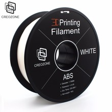 CREOZONE ABS Plastic Filament for 3D Printer 1.75mm 1KG (2.20LBS) 3D Printing Materials 3D Printer ABS Plastic White(China)