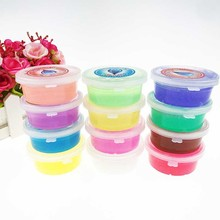 Kids Crystal non-toxic Slime Rubber  Clay Plasticine DIY Polymer Gum Educational Toy Random Color