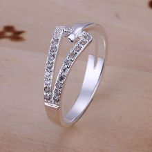 Free Shipping 925 jewelry Jewelry Ring Fine Fashion Silver Plated Women&Men Finger Ring Top Quality SMTR128