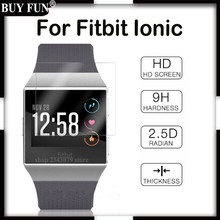 For Fitbit Ionic For Fitbit Ionic Screen Protector Toughened Glass Film Cover Clear LCD Shield Toughened not Tempered Glass(China)