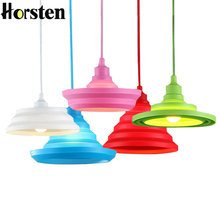 Horsten Modern Nordic Pendant Lamp Novelty Colorful Silicone Pendan Lights Fixtures For Bar Kitchen Bedroom E27 Art Pendant Lamp
