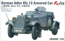 RealTS Bronco 1:35 WWII German Adler Kfz.13 Armored Car Plastic Model Kit #CB35032