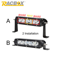 RACBOX 1 x 7inch 30W With CREE LED Chips LED Light Bar Combo Offroad Light 12V 24V For Truck Tractor Trailer Hunting Work Light