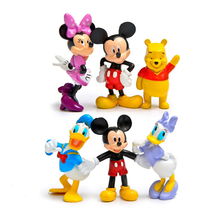 6pcs/lot Mickey & Minnie Figures Mickey & Minnie Mouse Donald Duck Cartoon Winnie PVC Action Figures Toys Collection Model Toy