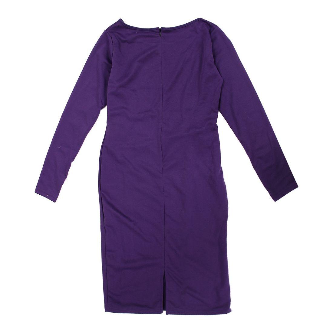 Career Female Peplum Work Dress 3/4 Sleeve O Neck Women Fashion Sheath Elegant Business Bodycon Pencil Dress