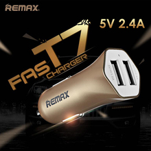 Remax  Dual Fast USB Car Adapter ( 5V / 2.4A ) Smart IC USB Car Charger for iPhone 6 6s iPad Air Samsung Nexus GPS Android 1