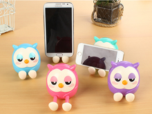 Candy Color Universal Cute Owl Pattern Phone Stand Holder for cell phone Accessories Multifunctional Mini Saving Money Box(China)