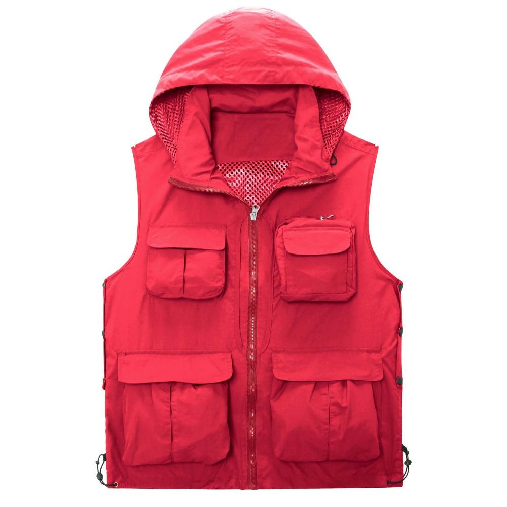 Mens Casual Waistcoat Camera Outdoor Travel Photographer Coat Sleeveless Jacket