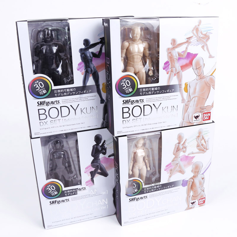 2 Color SHFiguarts Body Kun Body Chan Pale Orange Solid Black Color Ver. PVC Action Figure Collectible Model Doll Toy in box<br><br>Aliexpress